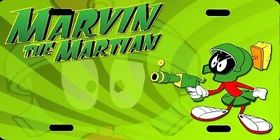 Marvin The Martian Green Color Photo Cartoon Aluminum Metal Vanity License Plate