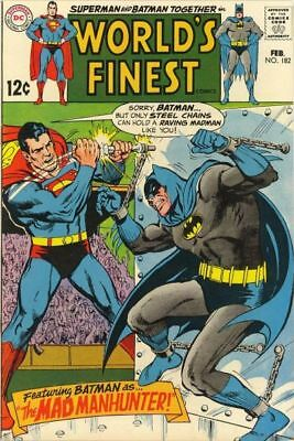 WORLD'S FINEST #182 VG, SUPERMAN, BATMAN, Curt Swan/Neal Adams C, DC Comics 1969