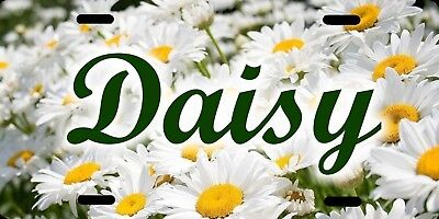 Personalized Custom Daisy Daisies Flower License Plate Name Initials Phrase etc.