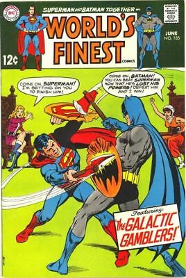 WORLD'S FINEST #185 VG, SUPERMAN, BATMAN, Curt Swan/Neal Adams C, DC Comics 1969