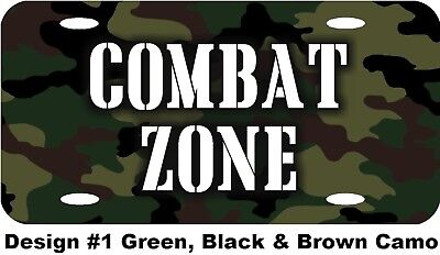 Personalized Custom Green Camo Camouflage Background License Plate Any Writing