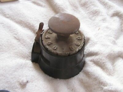Antique Wesley Mfg. Co 1897 Cast Iron Check punch machine