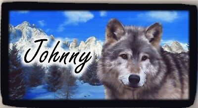 Personalized Custom Wolf Wolves Wild Blue Mountains Checkbook Check Cover NEW