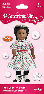 AMERICAN GIRL TODAY GYMNASTICS OUTFIT PUFFY~BUBBLE STICKER PARTY FAVOR~SOCK!