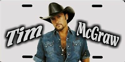 "Tim McGraw Color Photo Country Music License Plate 12""x6"" ALUMINUM MADE IN USA"