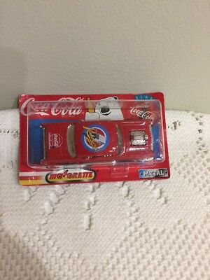 Coca Cola Majorette 200 Series 1/64 Scale 57 Chevy Metal Car 1997  Radio Grill