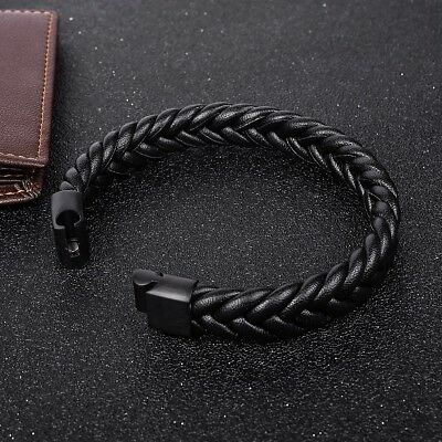Trendy Braided Leather Bracelet Cuff Wrap Jewelry Gifts Accessories For Men