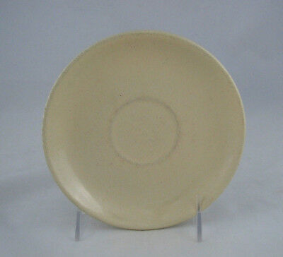 """2 Catalina Island Pottery Saucers in Satin Ivory on RED CLAY, 6 1/8"""" diameter"""