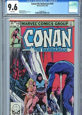 Conan the Barbarian #149 CGC 9.6 White Pages Marvel Comics 1983