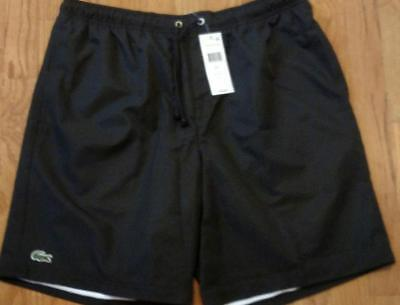 041ab5594499 Mens Authentic Lacoste Sport Diamond Drawstring Athletic Shorts Black 8 3XL   60