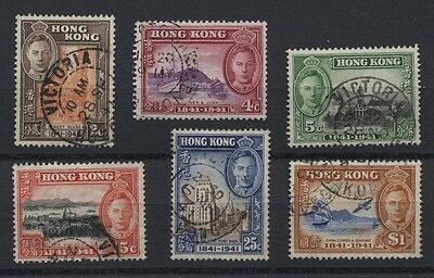 HONG KONG 168-173 Centenary set 1941 used