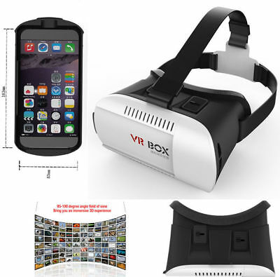 DE!Virtual Reality 3D VR Box Brille +Bluetooth Remote→iphone 6/6 plus/6s/6s plus