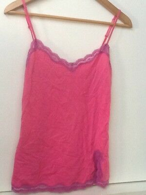 Victoria's Secret Women's Pink Camisole Tank Cami size S lace edged NWT New