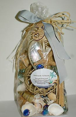 Seashore Organic Seascapes Luxury potpourri Botanicals/Shells/starfish-Choice of