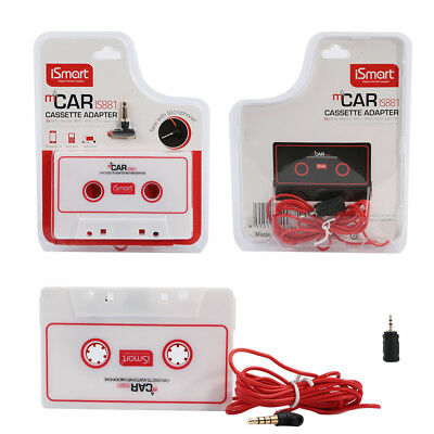 Car AUX Audio Cassette Adapter Tape Converter Microphone 4 CD MD Phone MP3 iPod