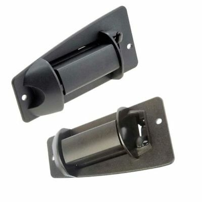 Extended Cab 3rd Side Door Handle BLACK LH & RH Pair Set for Chevy Truck Cargo