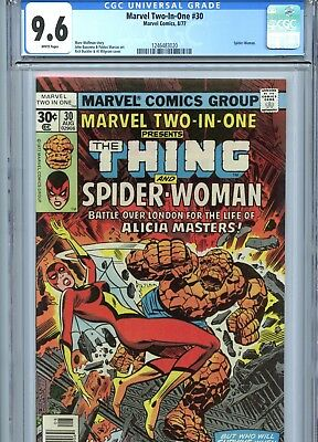 Marvel Two-In-One #30 CGC 9.6 Thing Early Spider-Woman App 1977