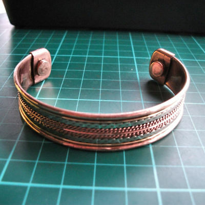 Auction Magnetic Healing Therapy Copper Bracelet Tibetan Pain Relief Cuff