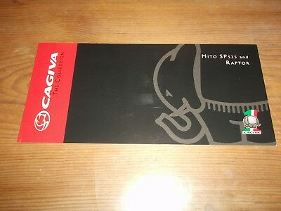 Motorcycle Brochure. Cagiva. Mito SP525 and Raptor. c2008. Free UK P&P.