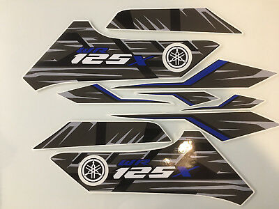 YAMAHA WR125X 2014 Decal kit 9 Piece Quality aftermarket Vinyl Graphics stickers