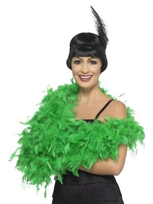 Deluxe Feather Boa Emerald Green 180cm 80g Fancy Dress Accessory