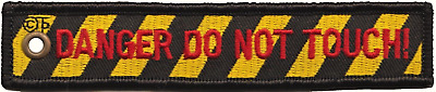 Danger Do Not Touch! Royal Air Force RAF Double-Sided Embroidered Cloth Keyring