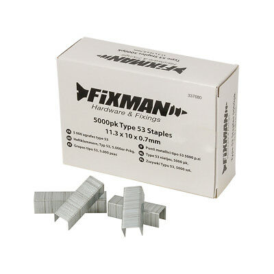 Fixman 10mm Type 53 Staples 5000pk 11.25 x 10 x 0.75mm