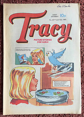 Tracy Comic For Girls.  26 July 1980. No. 43. Fn+ Condition.