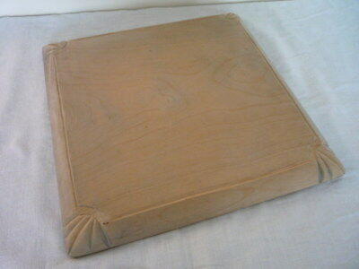 Square Carved Edge Sycamore Bread / Chopping Board Vintage Kitchenalia England