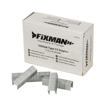 Fixman 12mm Type 53 Staples 5000pk 11.25 x 12 x 0.75mm