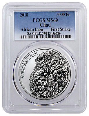 2018 Republic of Chad African Lion 1 oz Silver PCGS MS69 FS SKU51655