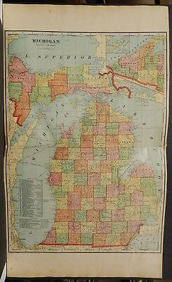 Michigan State Map 1903 J19#01