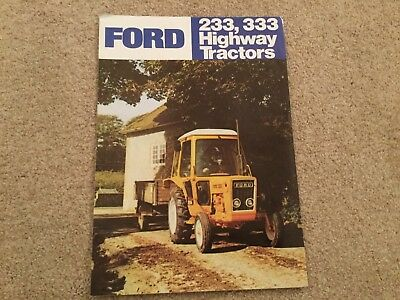 FORD 233 333 HIGHWAY TRACTOR BROCHURE 70s CLASSIC MODELS