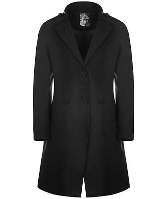 Punk Rave Mens Gothic Morning Jacket Black Steampunk Victorian Gentleman Coat