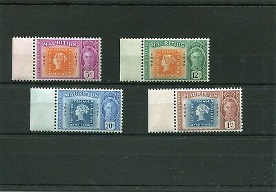 Mauritius. 4 -- G6 Umm Stamps With Hinge Marks On Selvedge