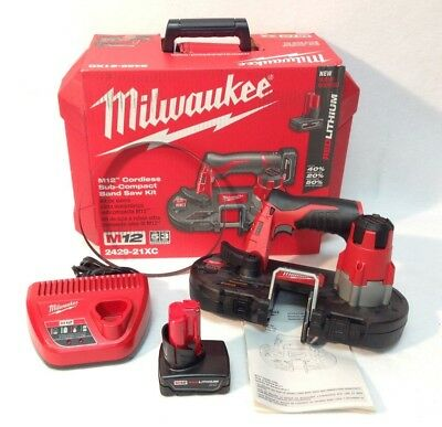 Milwaukee 2429-21XC New M12 Cordless Sub-Compact Band Saw Kit with XC Battery
