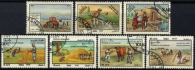 Afghanistan 1984 SG#943-9 Farmers Day Cto Used Set #D67383