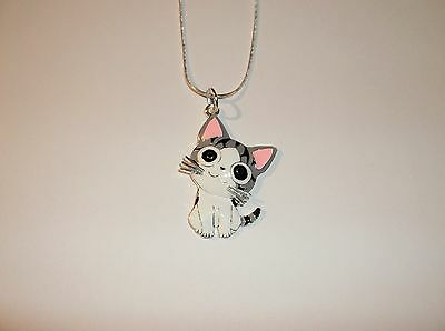 CHI'S SWEET HOME CAT Inspired Large Charm NECKLACE Kitty Kitten