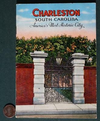 1940s WWII Era Charleston,South Carolina Tourist Guidebook-Fort Sumter-VINTAGE!