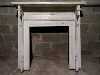 ~  Antique Carved Walnut Fireplace Mantel 48 X 46  ~  Architectural Salvage