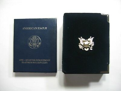 2004 American Eagle Platinum Proof 1/4 Oz Box Only With Papers No Coin