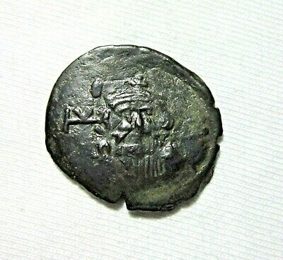 Byzantine Empire. Bronze Follis. Constans Ii, 641-668 Ad. Syracuse Mint.