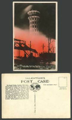 London Crystal Palace Sydenham Destroyed Completely by Fire in 1936 Old Postcard