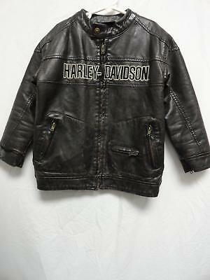 Youth Harley-Davidson Brown Polyester Embroidered Logo Jacket Size: 6