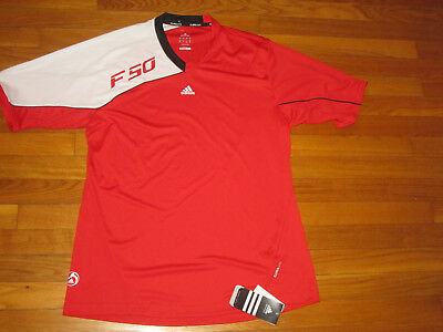 Nwt Adidas Climalite F50 Short Sleeve Red/white Jersey Mens Large
