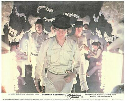 Clockwork Orange original lobby card Malcolm McDowall and Droogs on the march
