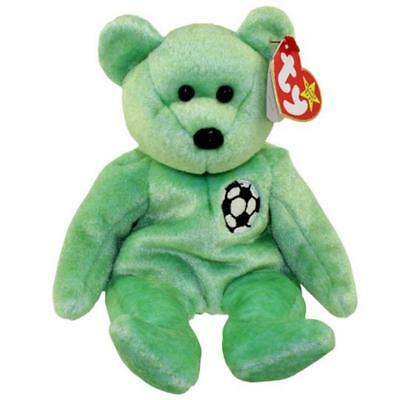 Kicks Soccer Bear Ty Beanie Baby Retired Mint Condition with Tags