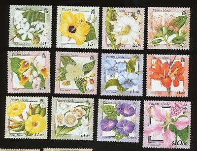PITCAIRN ISLANDS - Scott 512-523 - VFMNH - London Stamp Show, Flowers  -2000