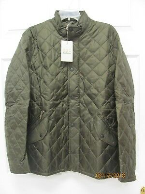 Barbour Flyweight Chelsea Jacket Men's Large Olive Quilted Orange Lining