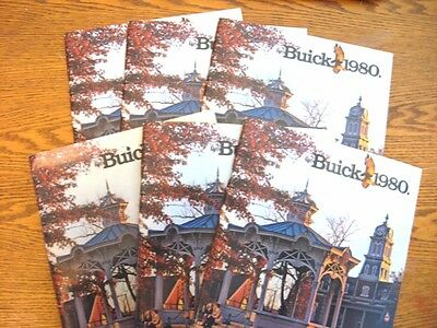 1980 Buick Prestige Brochure LOT, 6 pcs, Riviera Electra LeSabre Wagons Regal